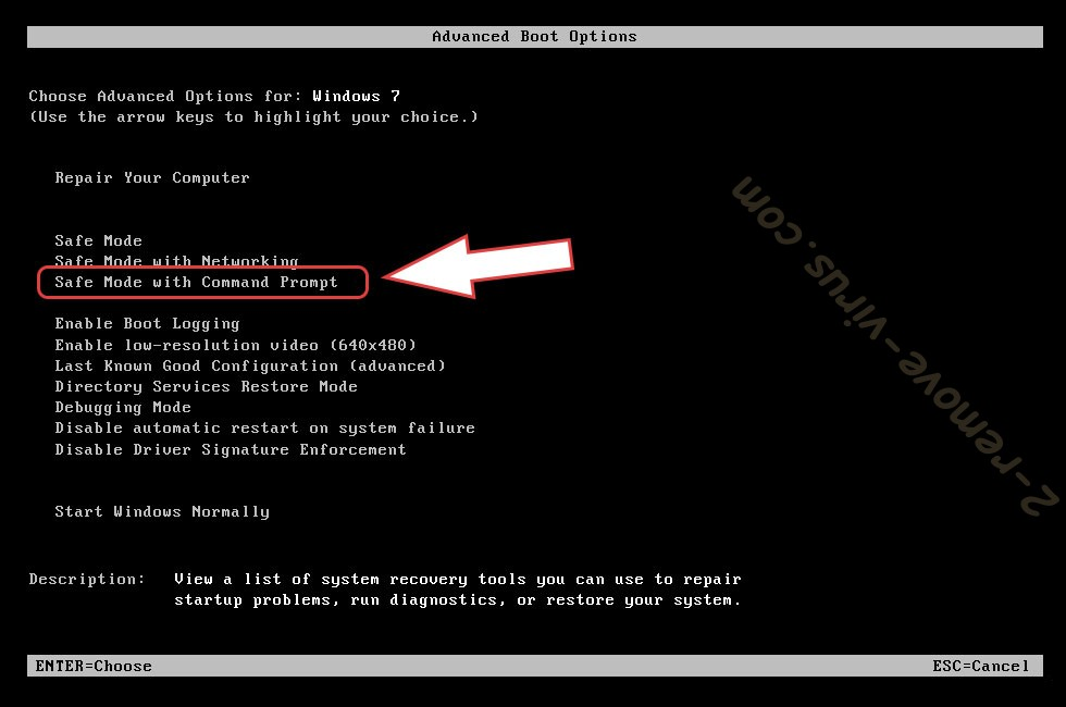 Remove BTCamant Ransomware - boot options
