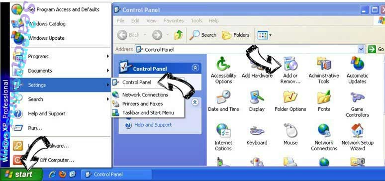 Remove Eliminar Iridiumsearch.com from Windows XP