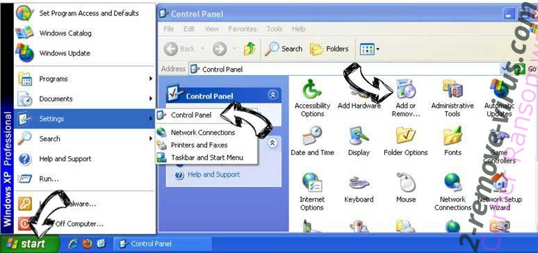 Remove Search.pa-cmf.com from Windows XP