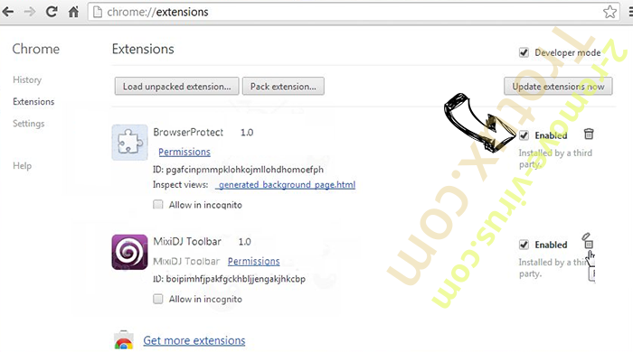 Jabuticaba Chrome extensions disable