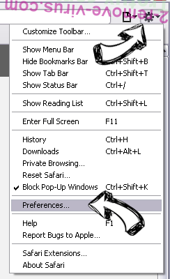 Web Bar toolbar Safari menu