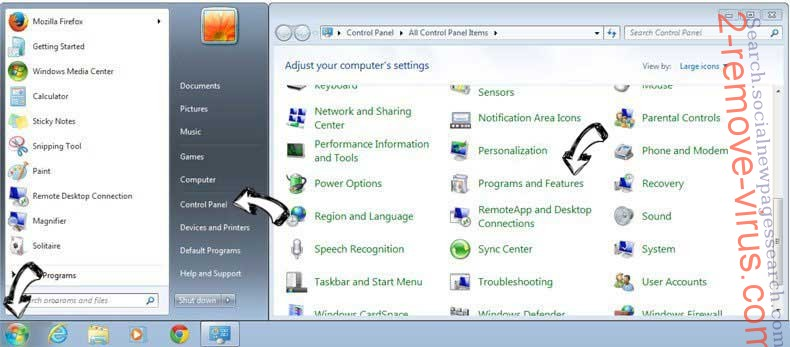 Uninstall CareerPronto Ads from Windows 7