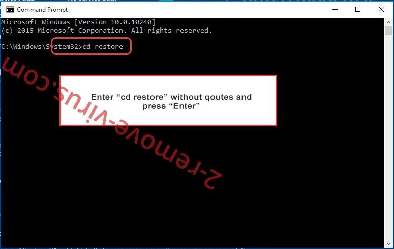 Uninstall Wncry Virus - command prompt restore