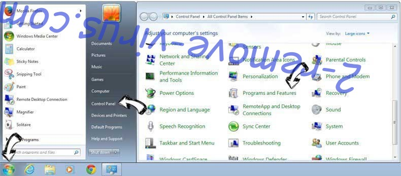 Uninstall Pegasus Spyware Activated Scam from Windows 7