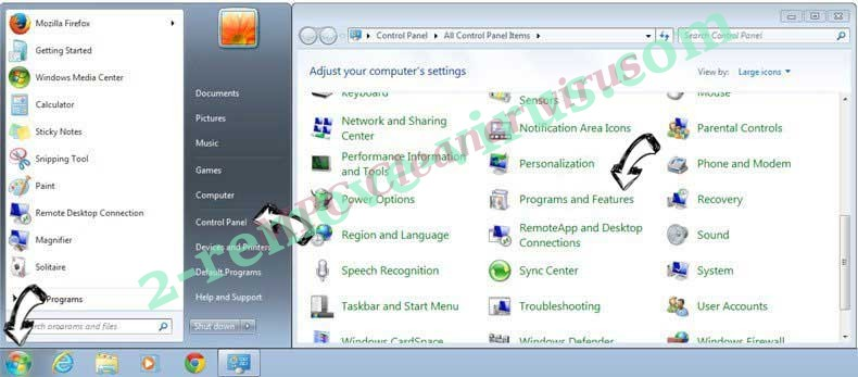 Uninstall FlightSearchSpp from Windows 7