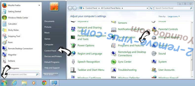 Uninstall LaunchPage from Windows 7