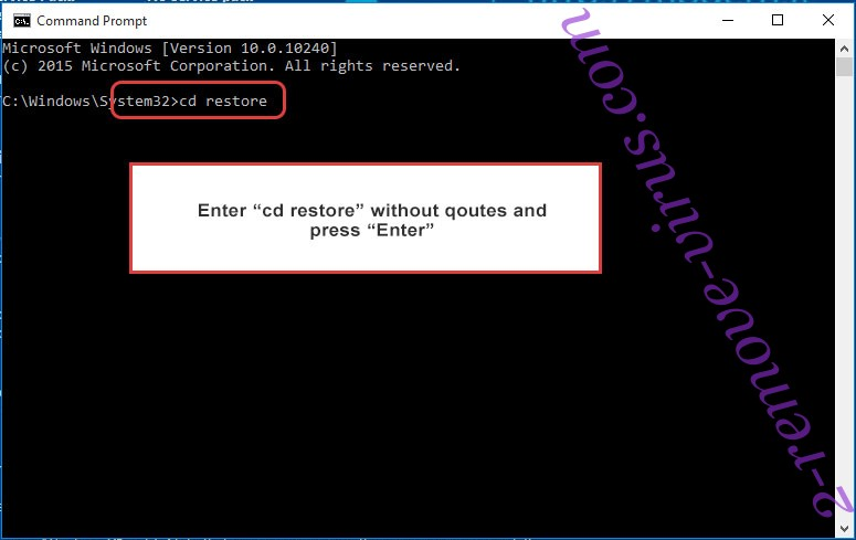 Uninstall SystemCrypter ransomware - command prompt restore