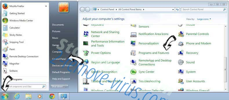 Uninstall Trovi.com from Windows 7