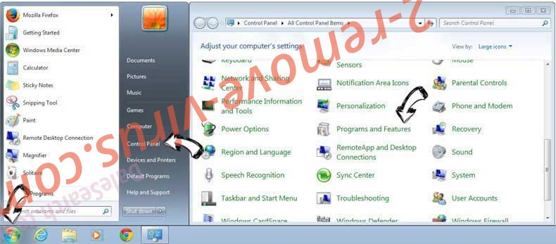 Uninstall MySportTab Toolbar from Windows 7