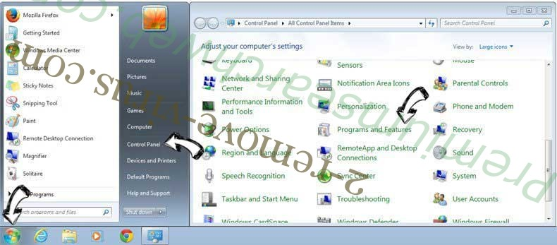 Uninstall Search Protect by Conduit from Windows 7