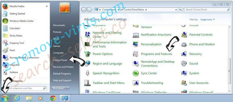 Uninstall Search4Musix from Windows 7