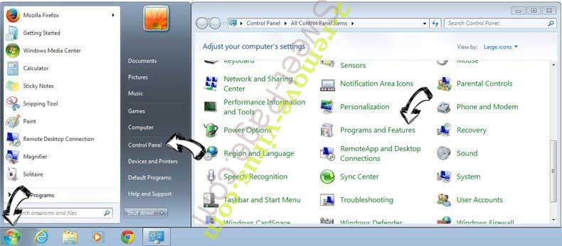 Uninstall Chardwardse.club fast & easy from Windows 7