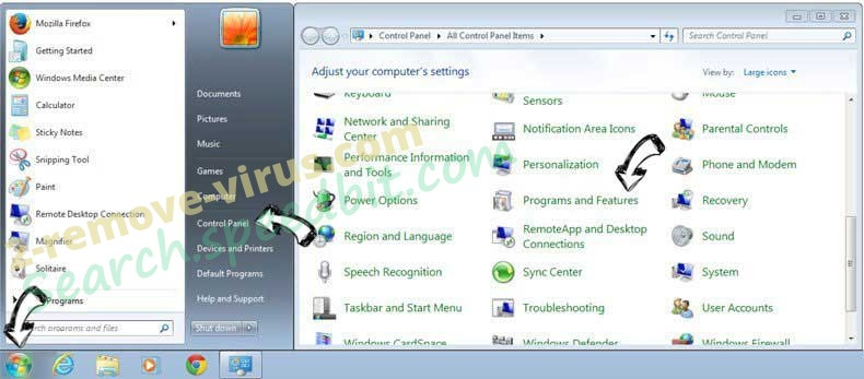 Uninstall Bitguard from Windows 7