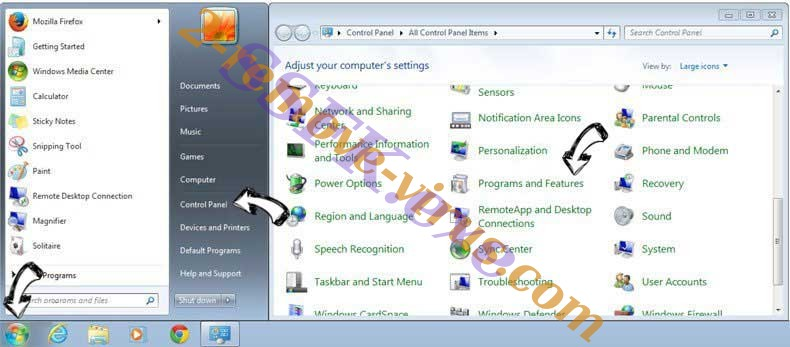 Uninstall Web Bar entfernen from Windows 7