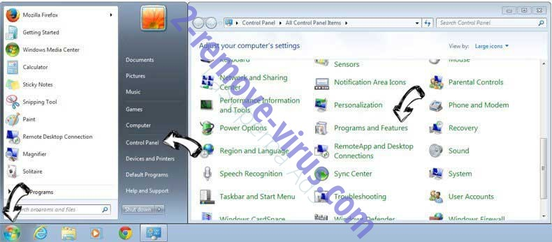 Uninstall Recipes By inMind New Tab from Windows 7