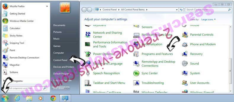 Uninstall Mobisearch.co from Windows 7