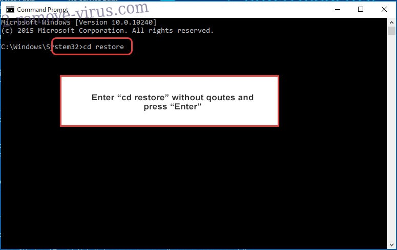 Uninstall help_you@india.com - command prompt restore