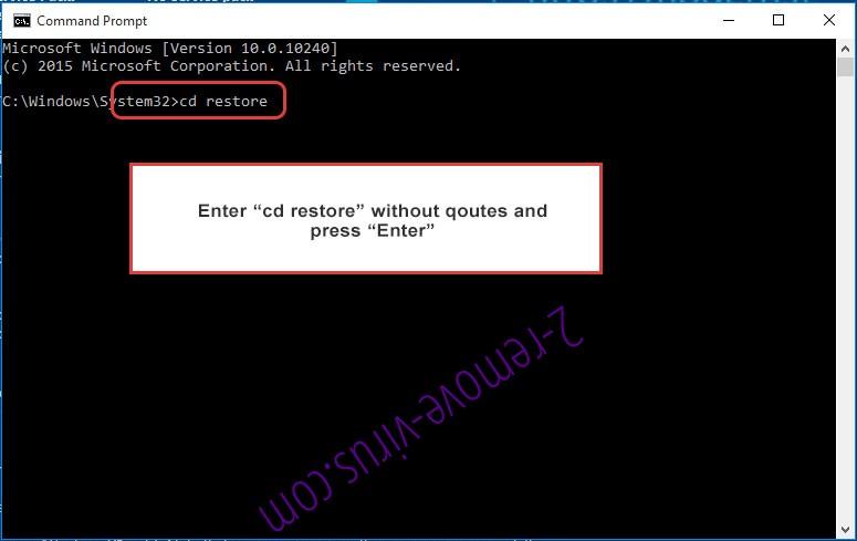 Uninstall KillerLocker Virus - command prompt restore