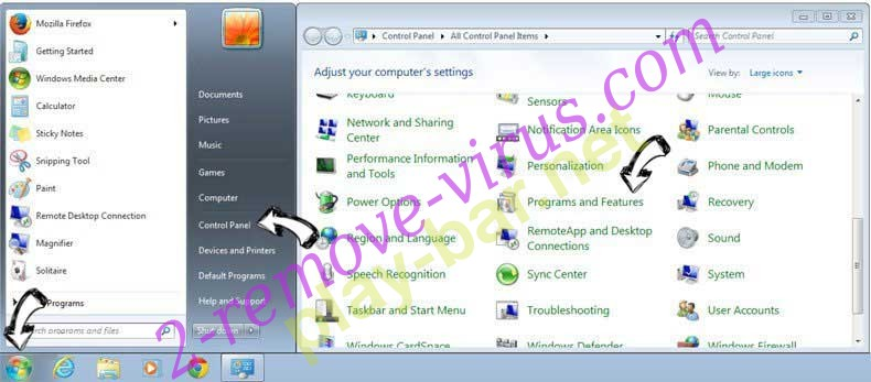 Uninstall Eliminar Surfvox.com from Windows 7