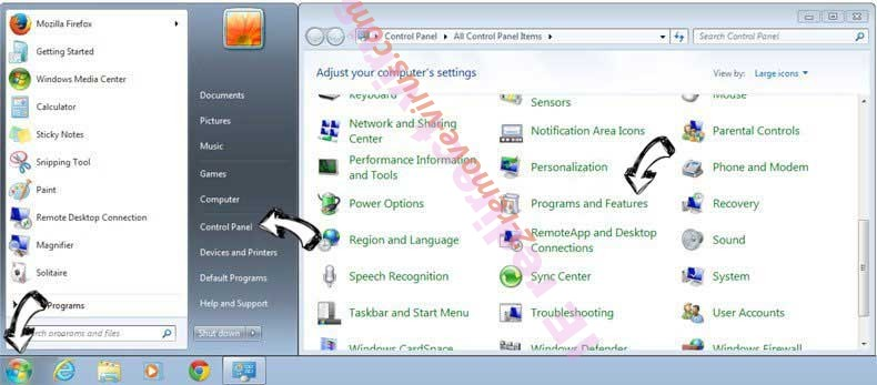 Uninstall Mobura.com from Windows 7