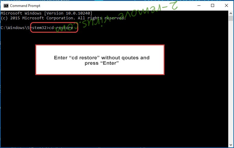 Uninstall Cerber virus - command prompt restore