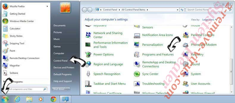 Uninstall StreamlinedDIY Toolbar from Windows 7
