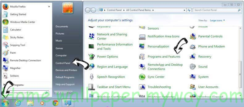 Uninstall MyFashionTab Toolbar from Windows 7
