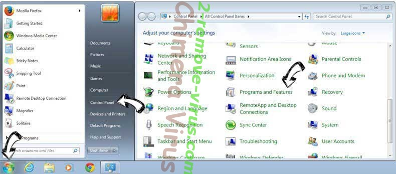 Uninstall aMuleC from Windows 7