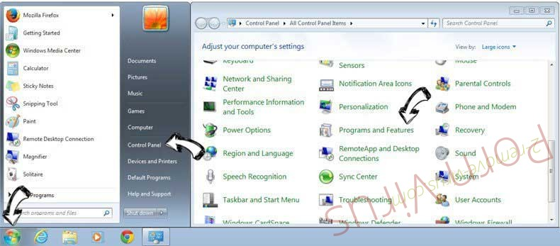 Uninstall Microsoft Security Alert Scam from Windows 7