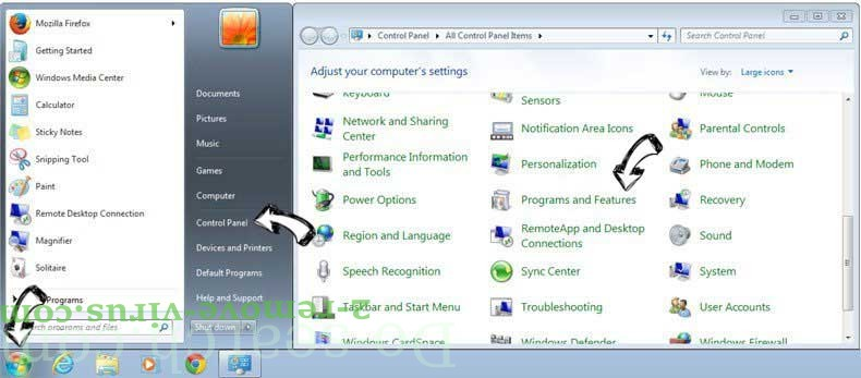 Uninstall SportHero Toolbar from Windows 7