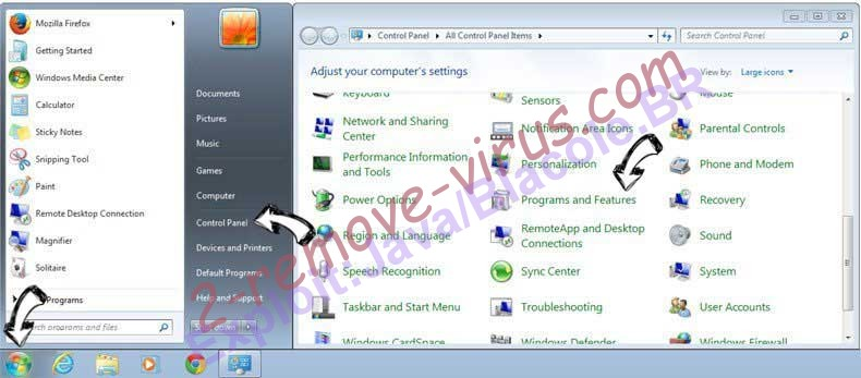 Uninstall Supprimer Shopperz from Windows 7