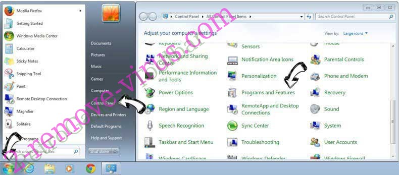 Uninstall nJoyMovies Search Plus from Windows 7