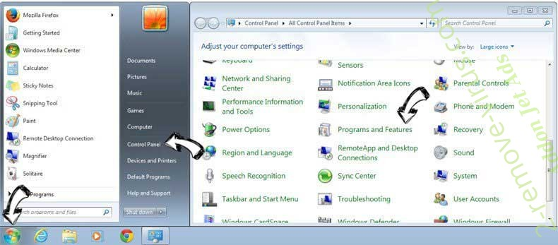 Uninstall HowToSimplified Toolbar from Windows 7