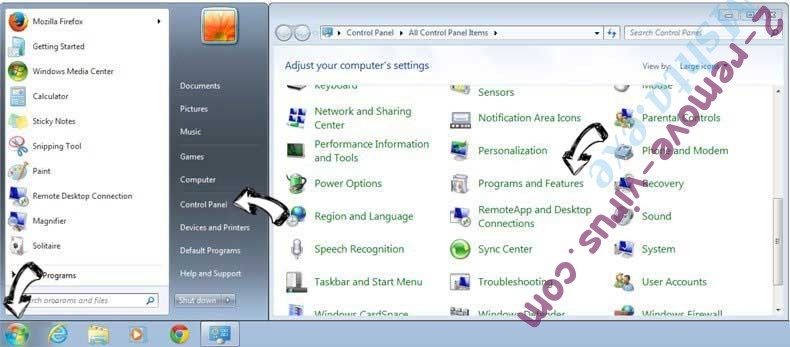 Uninstall Smarter Password from Windows 7