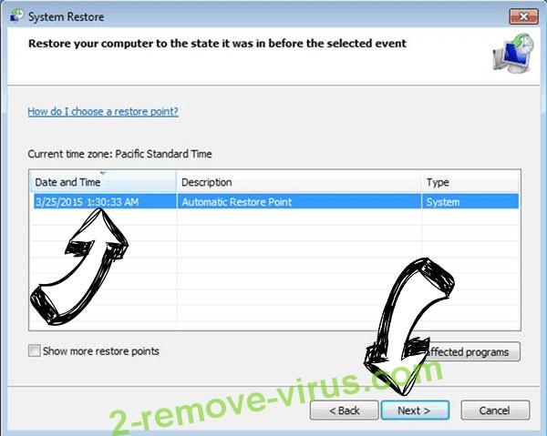 PremierOpinion virus - restore point