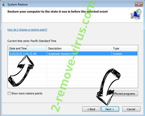 Csrss.exe Trojan - restore point