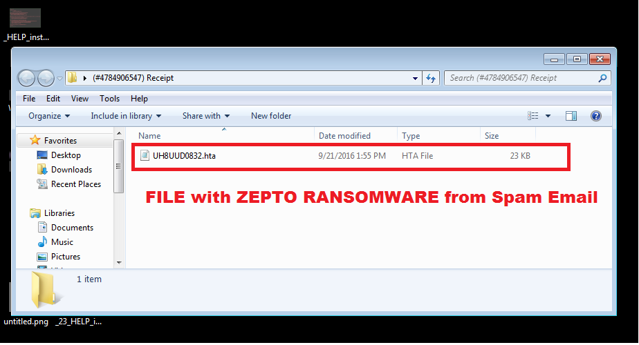 Zepto Fake File