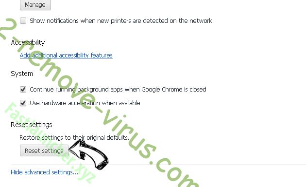 Mywebs.pro Chrome advanced menu