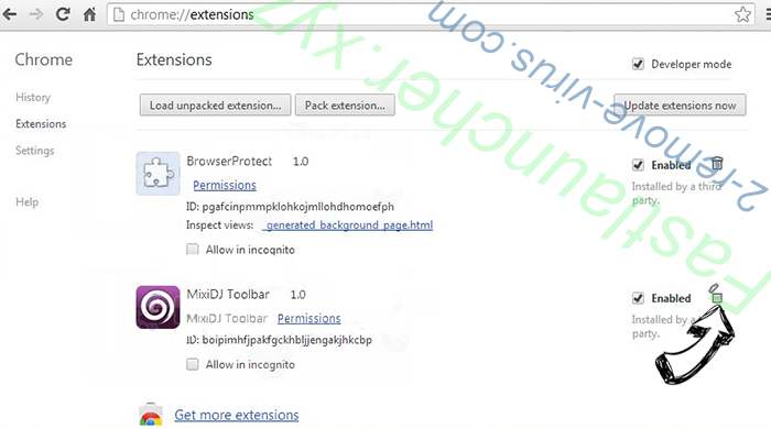 Mywebs.pro Chrome extensions remove