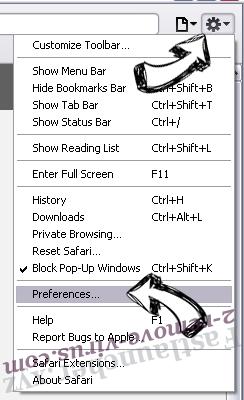 Mywebs.pro Safari menu