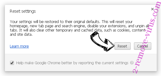 Websrch.net Chrome reset