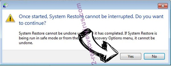 IS ransomware removal - restore message