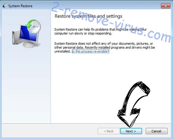 Get rid of Meds ransomware - restore init