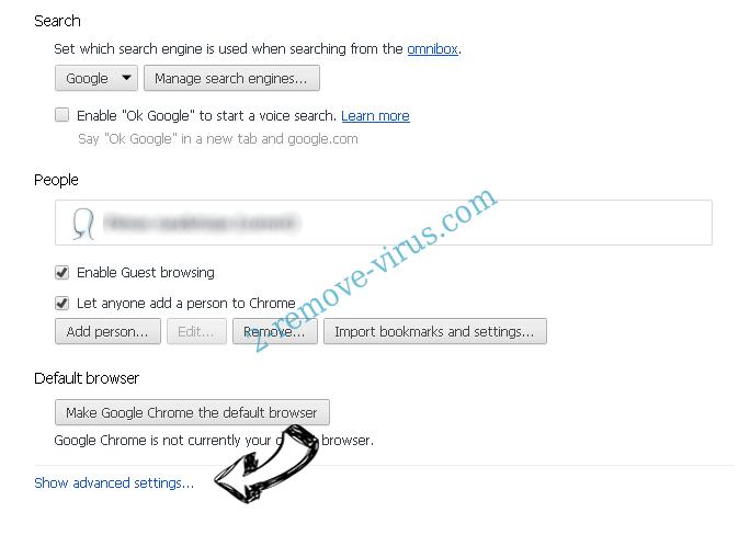 Tech-connect.biz Virus Chrome settings more