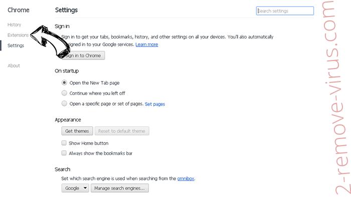 Tech-connect.biz Virus Chrome settings