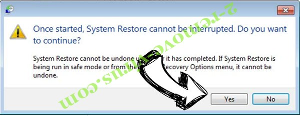 Rightsor Ransomware  removal - restore message