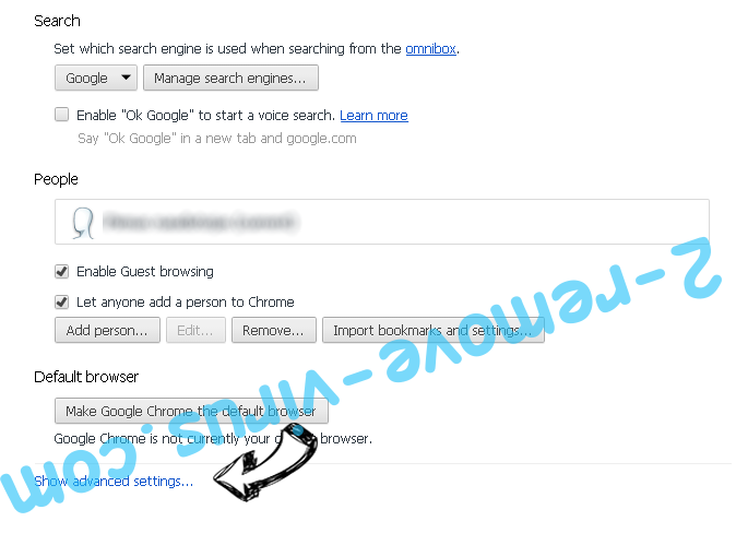 TheGameSearcher Extension verwijderen Chrome settings more