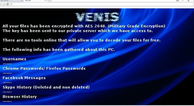 Venis Locker Virus