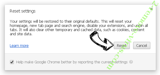 Pesonal-spage.com  Chrome reset