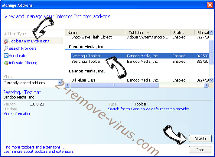 Yourgoo.online IE toolbars and extensions